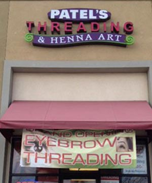 Shop Front View of Patel's Threading And Henna Art