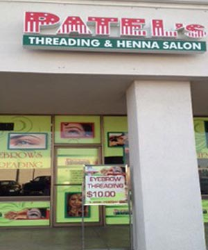 Front View of Patel's Threading and Henna Art at Bakersfield